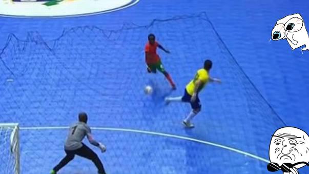 Gol de taco de Falcao en Futsal