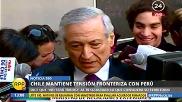 Canciller Heraldo Muñoz