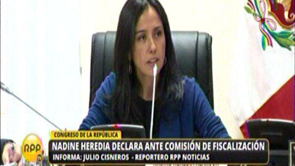 La primera dama evitó declarar ante la Comisión de Fiscalización.