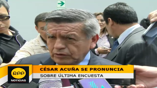 Acuña Peralta declaró que resultados ya estaban esperados.
