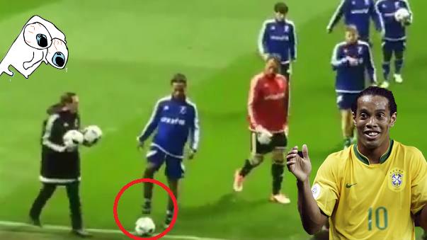Ronaldinho estuvo el sábado pasado en un partido benéfico