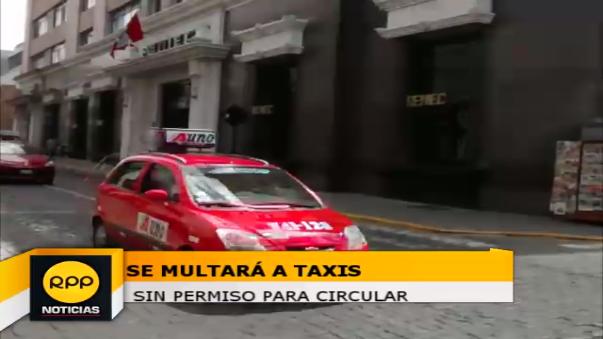 Se multará a taxistas informales.
