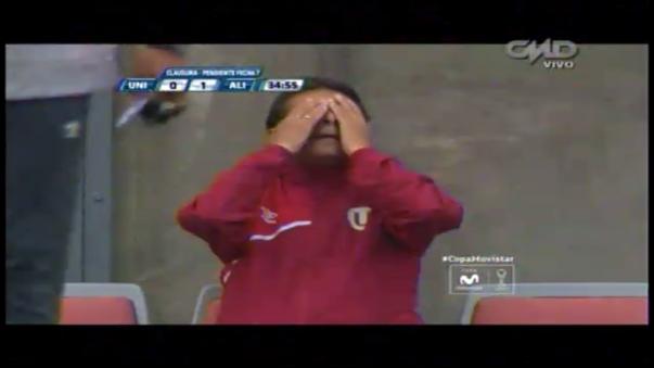 La reacción de Roberto Chale tras el gol de Alianza Lima