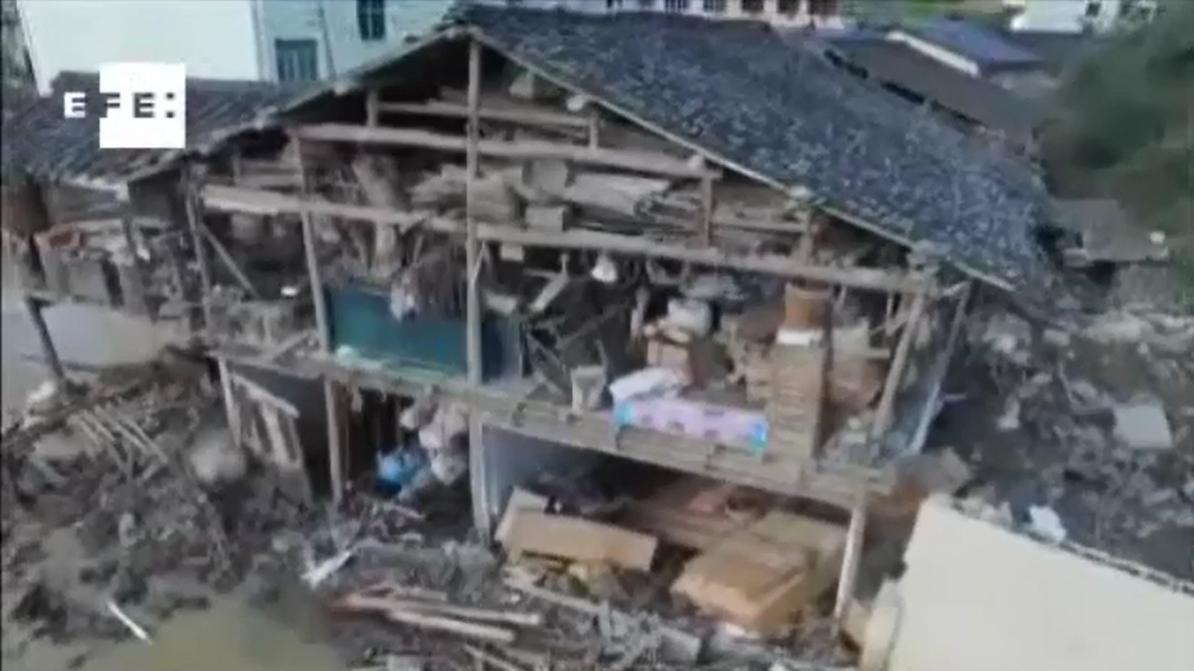 Deslizamientos en China