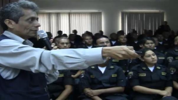 Futuros policías se preparan para atender emergencia del Fenómeno El niño