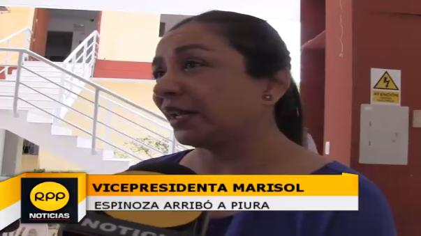 Vicepresidenta visitó Piura.