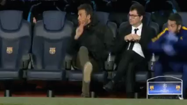 Así reaccionó Luis Enrique al golazo de Luis Suárez