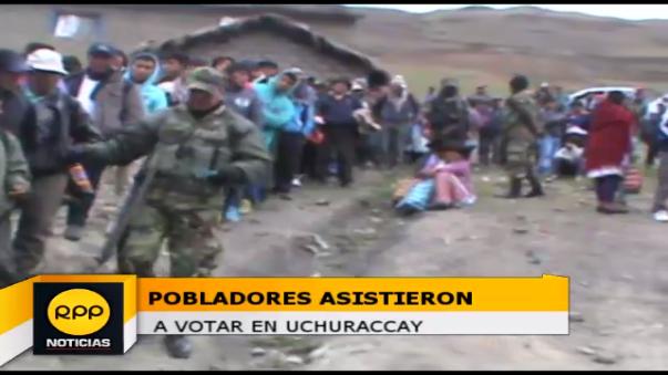 Elecciones en Uchuraccay.