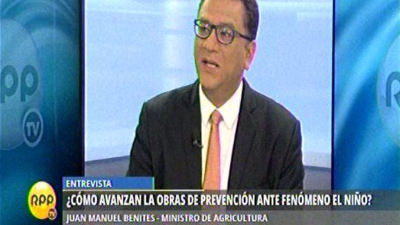 Benites consideró que la prevención para El Niño debe hacerse todos los años.