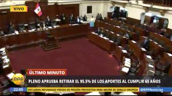 Pleno del Congreso de la República