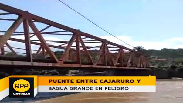 Temen por un posible colapso del puente que une los distritos de Cajaruro y Bagua Grande.