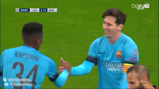 Messi de disculpó con un juvenil tras quitarle el gol