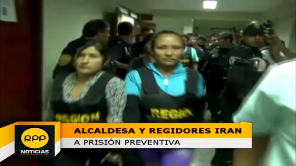 La alcaldesa y los cuatro regidores serán derivados al penal de Cambio Puente de Chimbote.