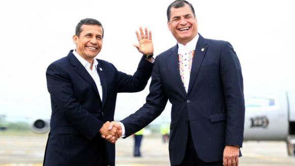 Ambos mandatarios coincidieron en el IX Gabinete Binacional entre Perú y Ecuador.
