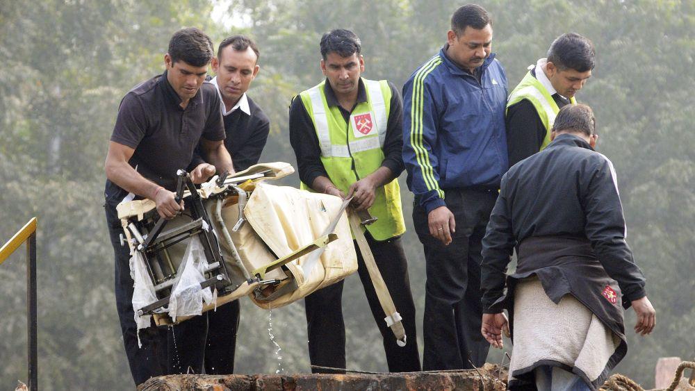 El accidente se produjo a pocos kilómetros del Aeropuerto Internacional Indira Gandhi.