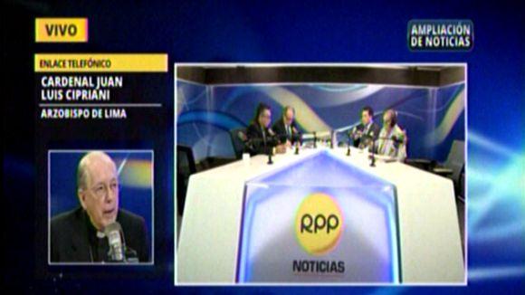 Cipriani recordó a los candidatos que el poder es pasajero.