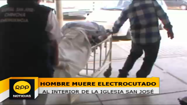 Tras sufrir la descarga eléctrica fue auxiliado por un sacerdote a quien lo evacuó hasta el hospital San José.