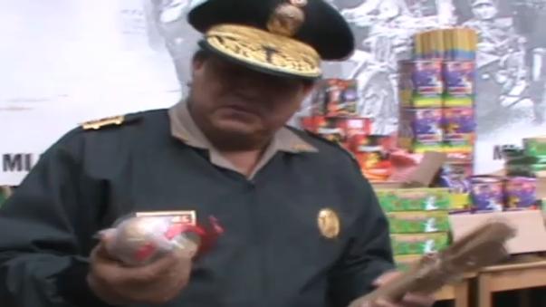 Incautan material pirotécnico en Cusco