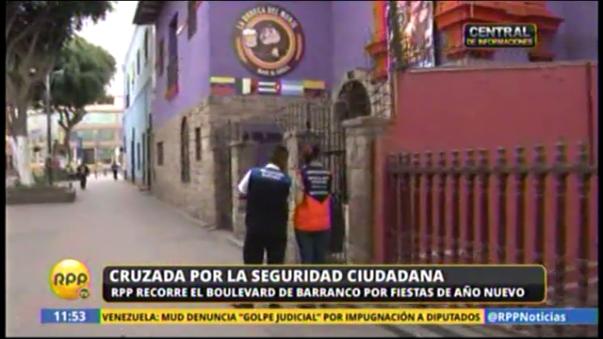 Barranco: seguridad ciudadana en Año Nuevo