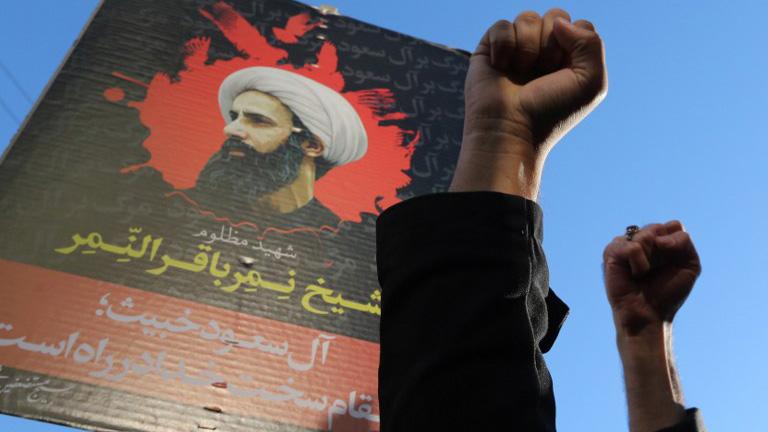 Protestas en las comunidades chiíes del mundo por la ejecución del clérigo en Arabia Saudí.