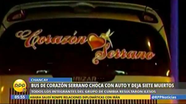 Bus de agrupación Corazón Serrano chocó en Chancay