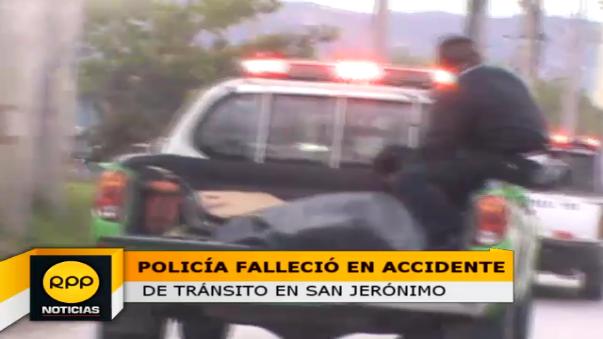 Efectivo fallecido fue llevado a la morgue de sector, mientras que el herido a un hospital cercano.