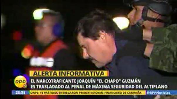 El Chapo es trasladado al penal de máxima seguridad El Altiplano