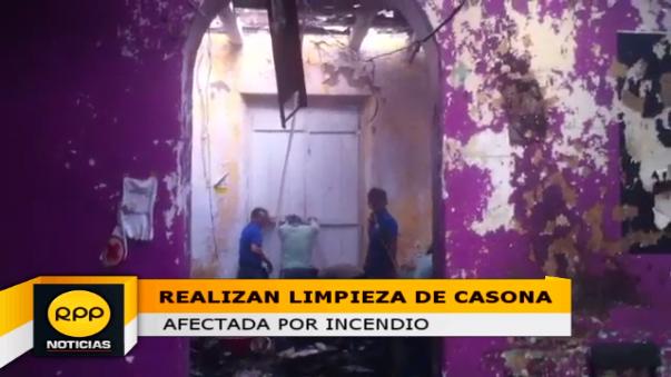 Casona quedó destruida tras incendio.