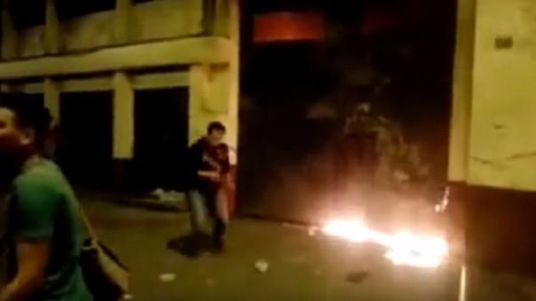 Actos violentos en facultad de la UNFV