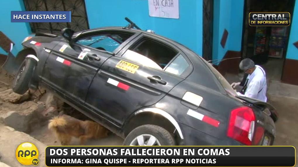 Los fallecidos iban a bordo del taxi que manejaba el padre.