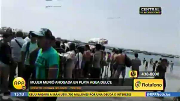 La fallecida había ido con su pareja y conviviente, Ramón Pereyra Torres, pero solo ella ingresó al mar.