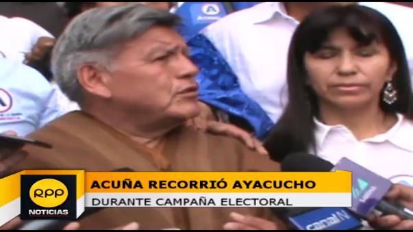 Acuña recorre Ayacucho en campaña presidencial