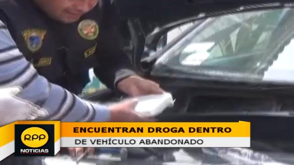La droga fue hallada con apoyo del can 'Chico'.