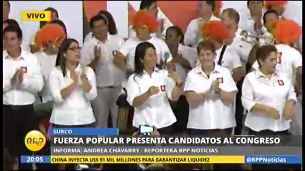 Fuerza Popular presentó a candidatos al Congreso