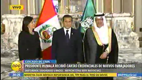 Presidente Humala recibió cartas credenciales de nuevos embajadores