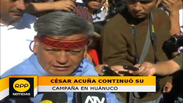 Candidato presidencial por Alianza Para el Progreso, César Acuña.