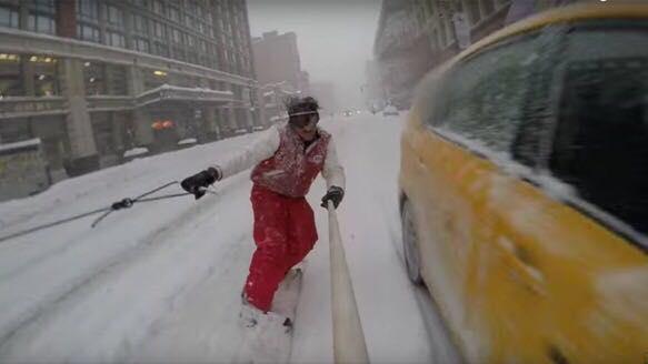 Snowboarding en NY