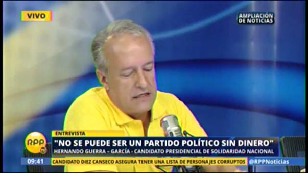 Candidato presidencial por Solidaridad Nacional.