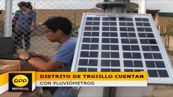 La Autoridad Nacional del Agua (ANA) instaló dos pluviómetros en los distritos de El Porvenir y Huanchaco.