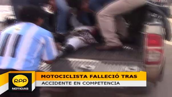 El hecho se produjo en el marco de la competencia de motocross organizado por la Comunidad Campesina de San Nicolás de Bari