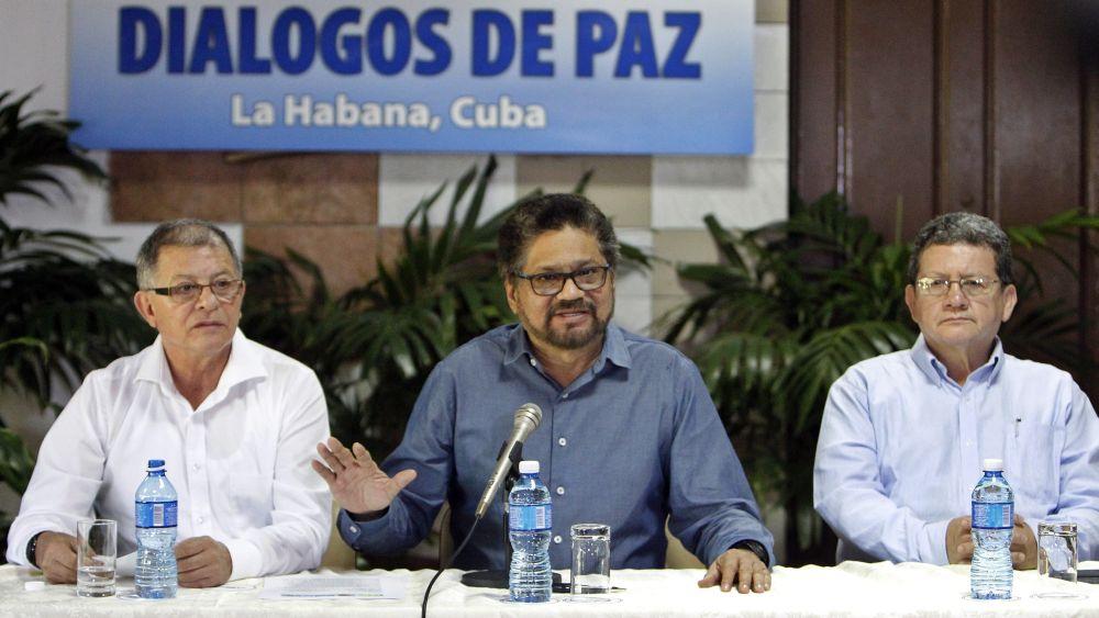 Representantes de las FARC dieron una conferencia de prensa en La Habana.