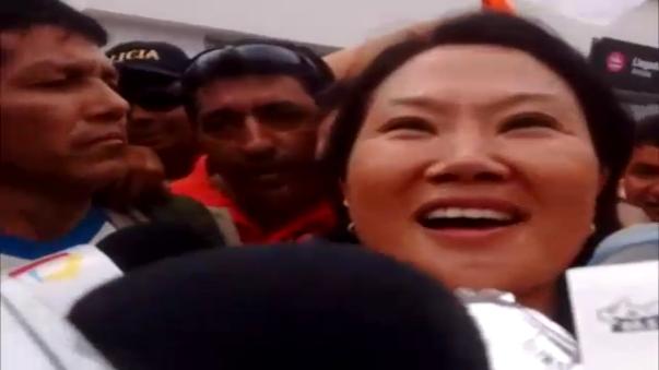 Candidata presidencial respalda la lista de candidatos al Congreso por la región Lambayeque.