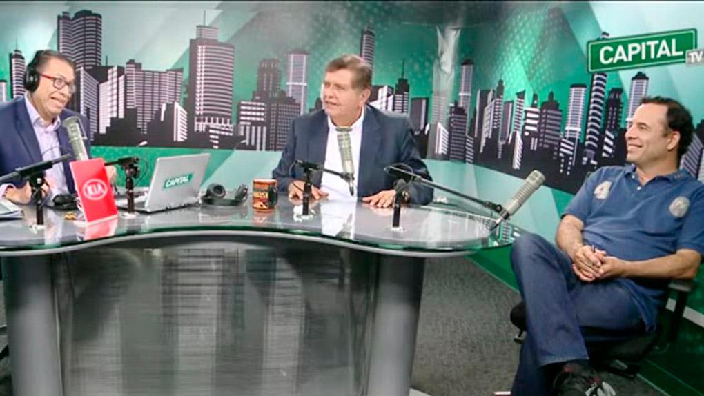 Alan García estuvo en Radio Capital.