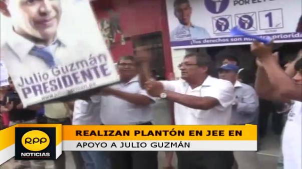 Plantón se realizó en pleno centro de Chiclayo