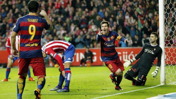 Barcelona venció por 3-1 al Sporting de Gijón