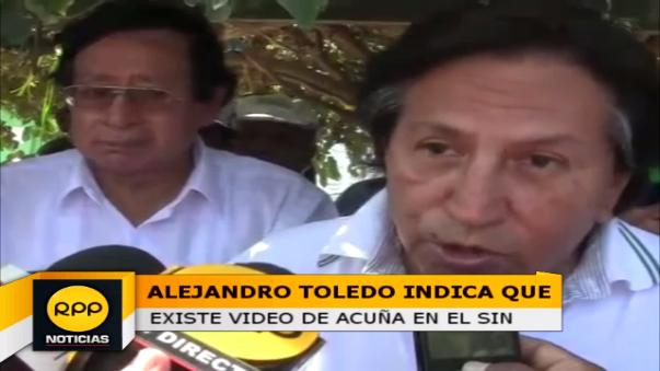 Alejandro Toledo, llegó hasta el centro poblado Capote.