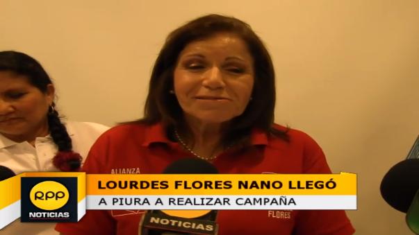 Candidata de Alianza Popular se pronunció sobre Julio Guzmán a quien señaló el apoyo que recibe de parte de la primera dama, Nadine Heredia.