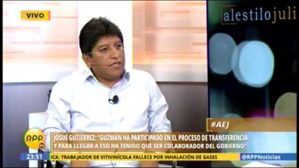 Congresista Gutiérrez sobre caso Lava Jato
