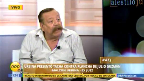 Exjuez Malzon Urbina presentó tacha contra Julio Guzmán