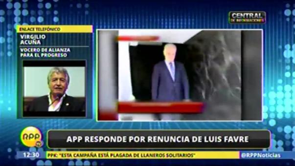 Virgilio Acuña confirmó la salida de Luis Favre.